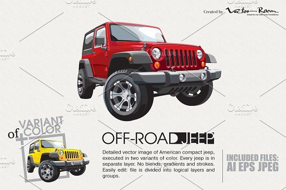 Off-road Jeep by Vector Room on @creativemarket
