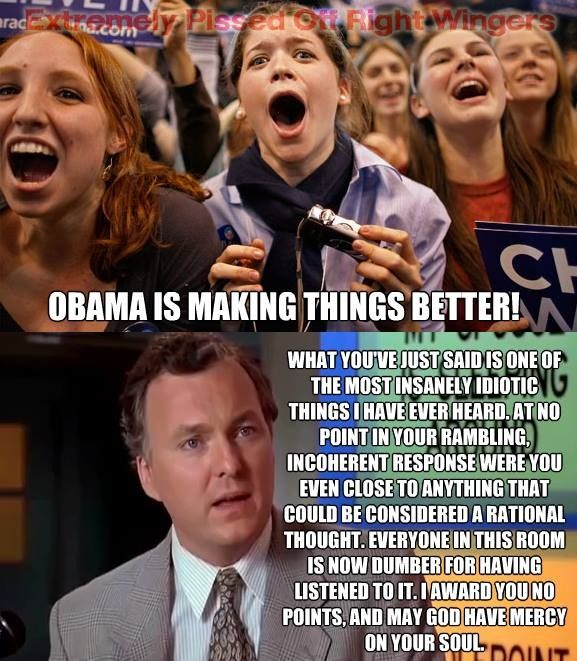 Very rarely can you use billy Madison quotes in real life... Unless it's about Obama