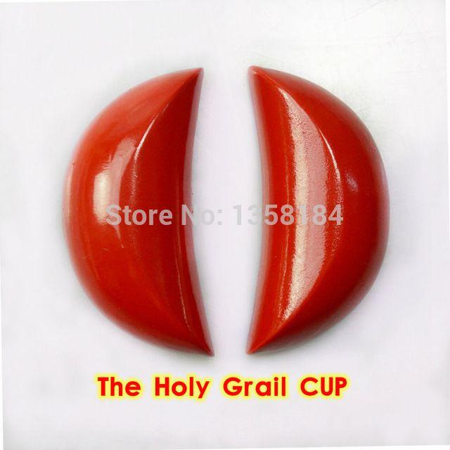 В 2 х деревянный полумесяц блоки вместе в святой грааль ель красный свет краска гадание поклонение предметы первой необходимости