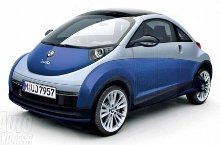 Bmw Isetta. Looks a lot like a VW Beetle.