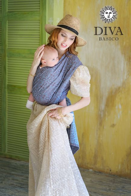Diva Basico Woven Wrap Libellula is an economy-priced line of baby carriers designed in Italy. Free shipping to Canada and worldwide.