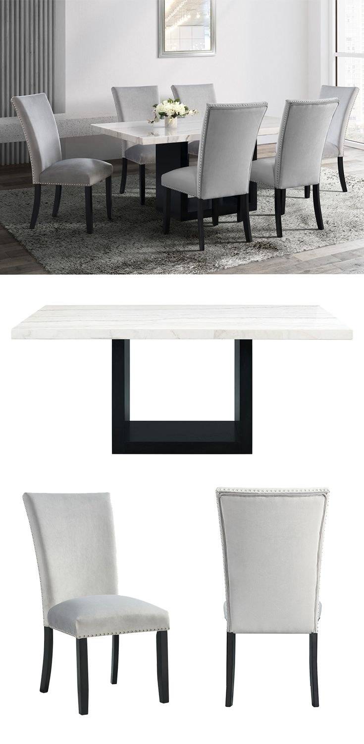 Clean Lines And The Contrast Of The White Marble Table Top And The