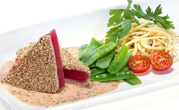 Atun Sellado con Vinagreta de Citricos... Nada mejor que una fresca, sana y deliciosa receta de atún para este verano.