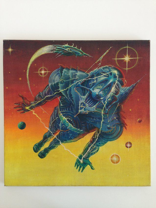 Alien - painted poster artwork (Helényi, Tibor - 1981) - Get this original piece at Budapest Poster Gallery's online auction on May 31, 2015! Find out more here: https://goo.gl/T8AxS0