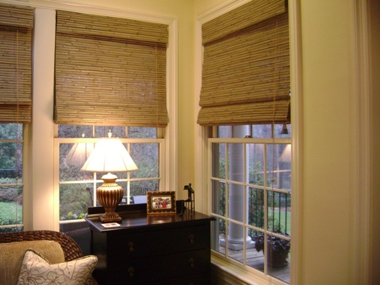 window blinds for the kitchen - Bamboo Window Shades