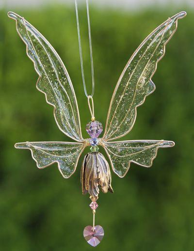 Crystal Fairy Suncatcher Gold