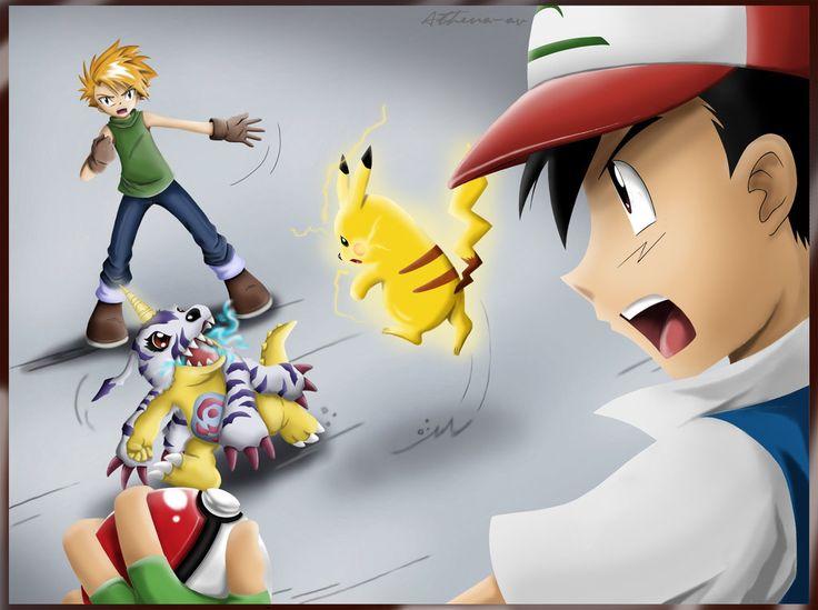 Digimon VS Pokemon | Digimon, Pokemon and Monsters
