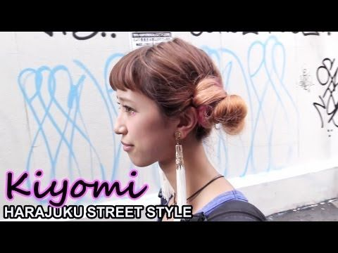 Kiyomi works at the popular #Harajuku resale shop WEGO, and her look features mo…
