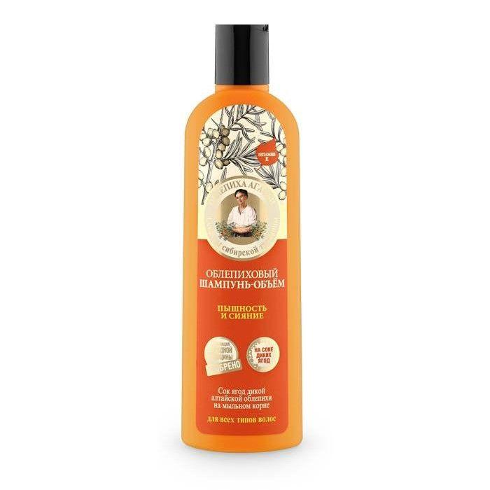 Rokitnikowy szampon Objętość Puszystość i Blaskna bazie soku dzikich jagód przeznaczony do