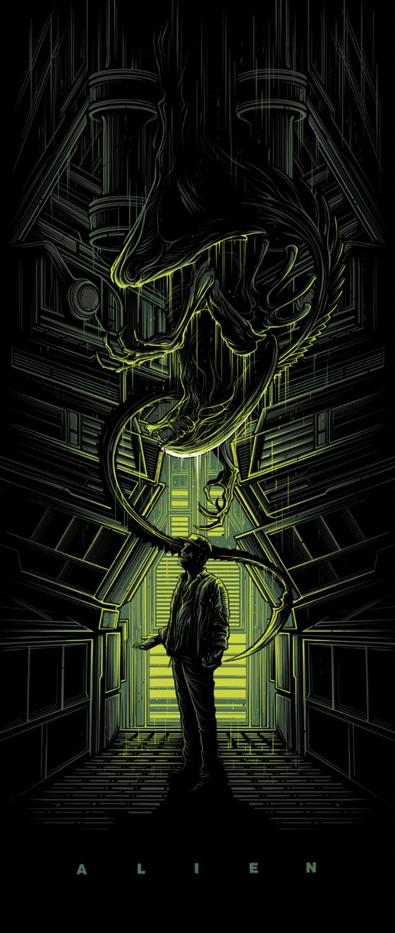 Dan Mumford and Mike Mahle Alien Day Posters From Galerie F