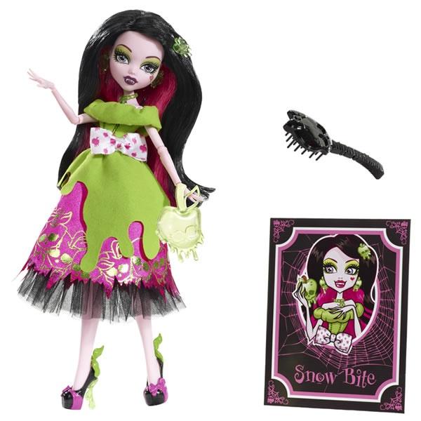 Draculaura als 'Schneebisschen' X4484  aus:  Monster High Märchen-Monster X4483 Puppen Sortiment