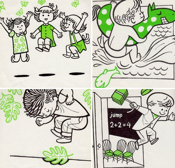 Jumping a picture book by Karen Stephens, illustrated by George Wiggins, 1965.