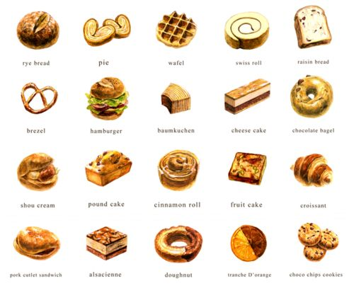 bakery illustrations