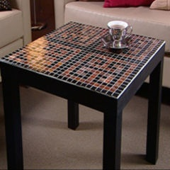 mosaic table from #ikea with Bisazza Vetricolour glass tiles
