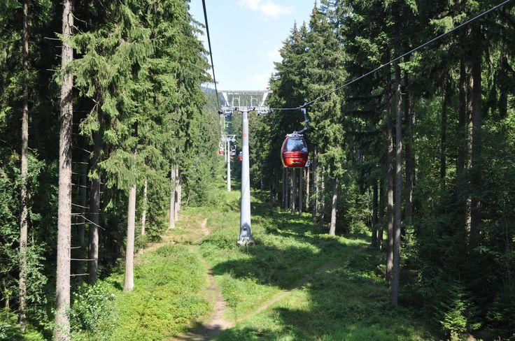 Von der Talstation auf 567,5 m ü. NN erleben Sie bei einer Fahrt mit der Wurmbergseilbahn das einmalige Panorama bis zur Spitze des Wurmberges auf 971,2 m ü. NN