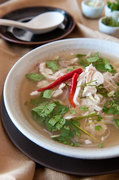 Chicken Recipes : Shredded Chicken and Lemongrass Soup | Tom Yum Gai