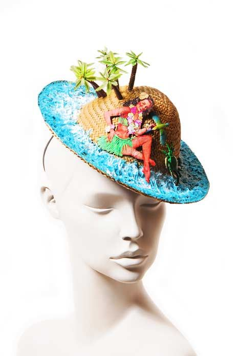 Wicked by Ipek Yaylacioglu Occasion millinery hats & hair accessory - Pin up island hat