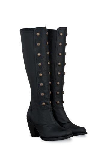 Olson Black Leather ladies-boots large