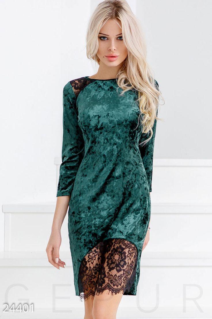 Трендовое бархатное платье