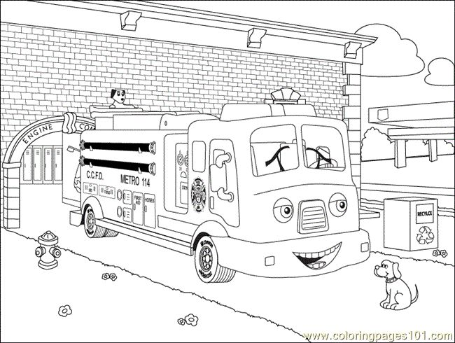 17 best images about firefighter bday party on pinterest for Free fire truck coloring pages to print