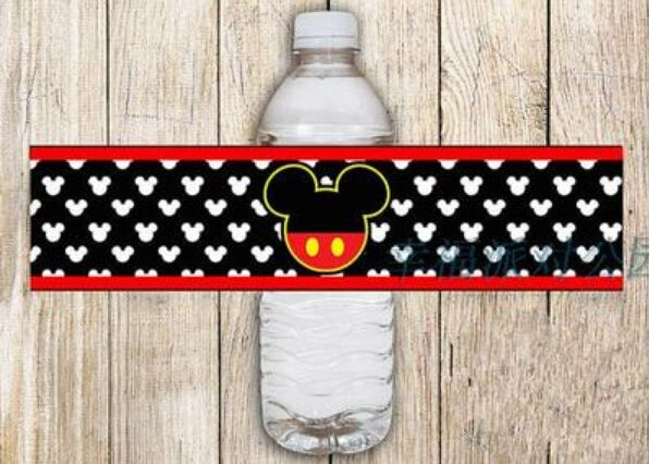 10 X персонализированные микки маус вода бутылка этикеток на день рождения украшения поставки событий и ну вечеринку поставляет бесплатная доставка купить на AliExpress