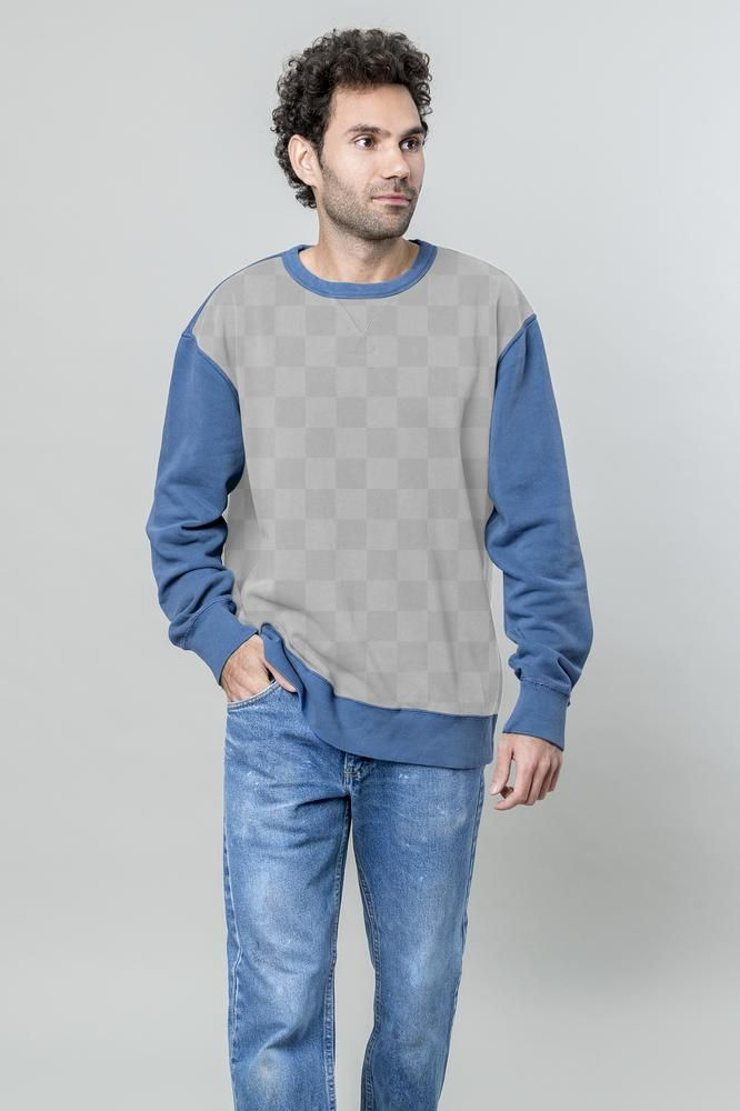 Download Premium Png Of Casual Man In Blue Jeans And Sweater Transparent Men Casual Blue Jeans Casual