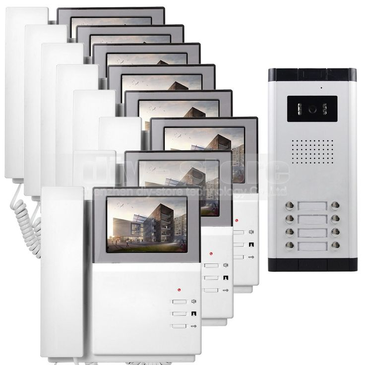 "DIYSECUR 4.3"" HD Monitor Apartment Video Door Phone Video Intercom Doorbell System 700 TVLine IR Camera Touch Key for 8 Families #Affiliate"