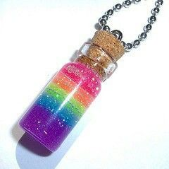 Hey!! It's a bottle of unicorn poop on a necklace! So need it;)