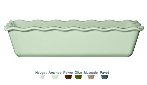 Loaf pan. 30x13x8 cm (1,60 L) Emile Henry ceramic dishes gently diffuse the heat, so your cakes are perfectly cooked right through.  Call 905·885·9250.