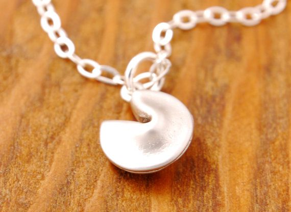 Fortune Cookie Necklace lucky symbol lucky necklace by MegusAttic, $28.00