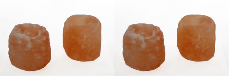 Natural Crystal Himalayan Salt Candle Holder - Set of 4