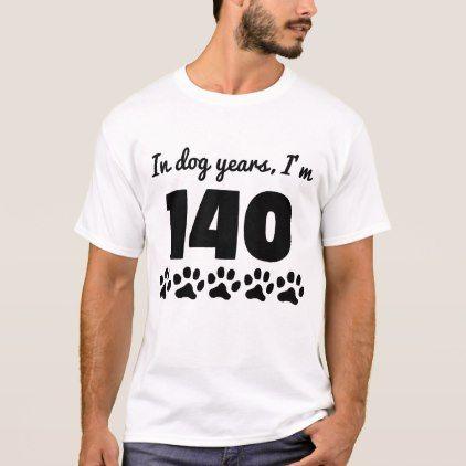 #Dog Years 20th Birthday T-Shirt - #giftidea #gift #present #idea #number #twenty #twentieth #bday #birthday #20thbirthday #party #anniversary #20th