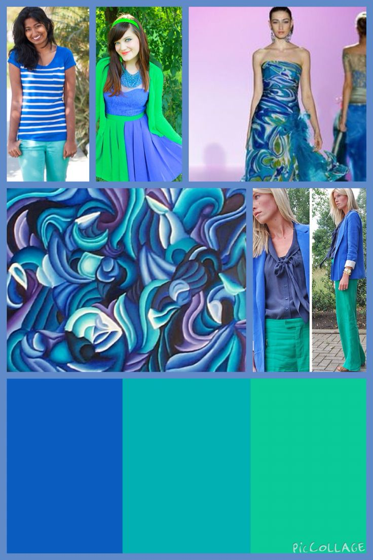 Analogous colours .
