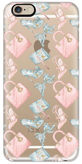 Casetify iPhone 6s Classic Snap ケース - Fashion Transparent Peach Mint Dior Bag Chanel Bag YSL Fashion Blogger Illustration Pastel Girl Valentino Shoes by Frou Frou Craft #Casetify
