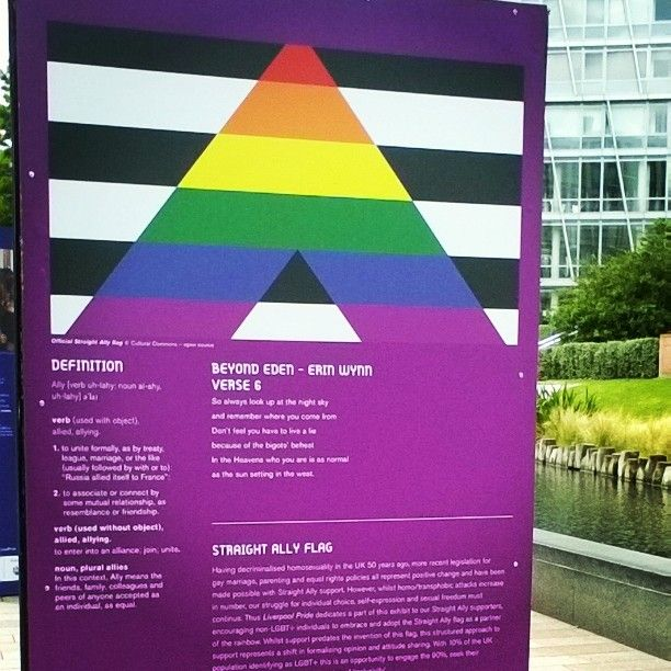 I didn't know allies got a flag #pride #LGBTQ #Liverpool