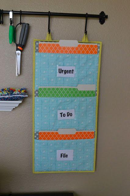 Lori H. Designs: Girl Friday Sews: File Folder Organizer Tutorial and a Giveaway!