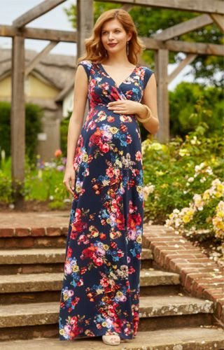 Alana Maternity Maxi Dress Midnight Garden by Tiffany Rose