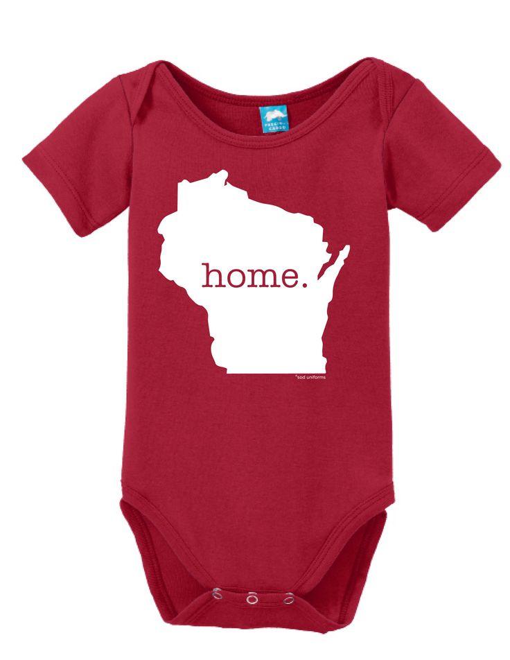 Wisconsin Home Onesie Funny Bodysuit Baby Romper