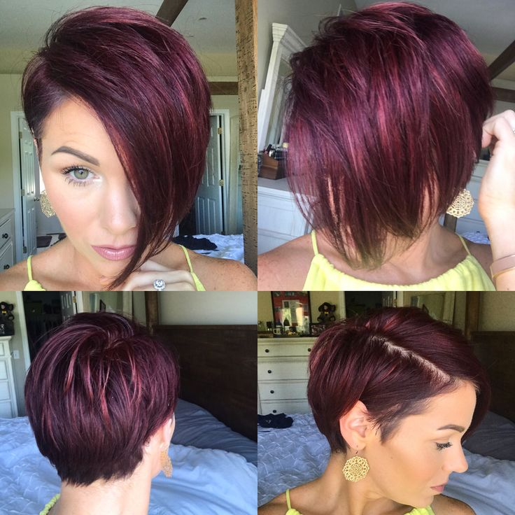 #pixie #nothingbutpixies #shorthair #undercut #redviolet #asymmetrical pixie