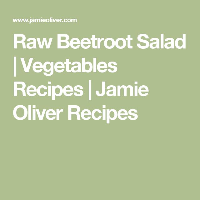 Raw Beetroot Salad | Vegetables Recipes | Jamie Oliver Recipes