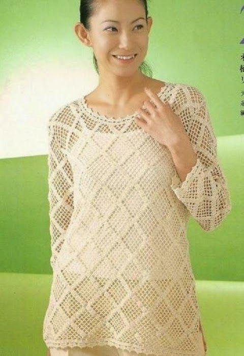 Crochetemoda: Túnica de Crochet