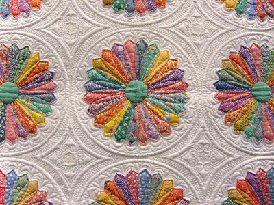 quilt, Inspired by Alice, Marilyn Lidstom Larson, detail of applique....Beautiful!