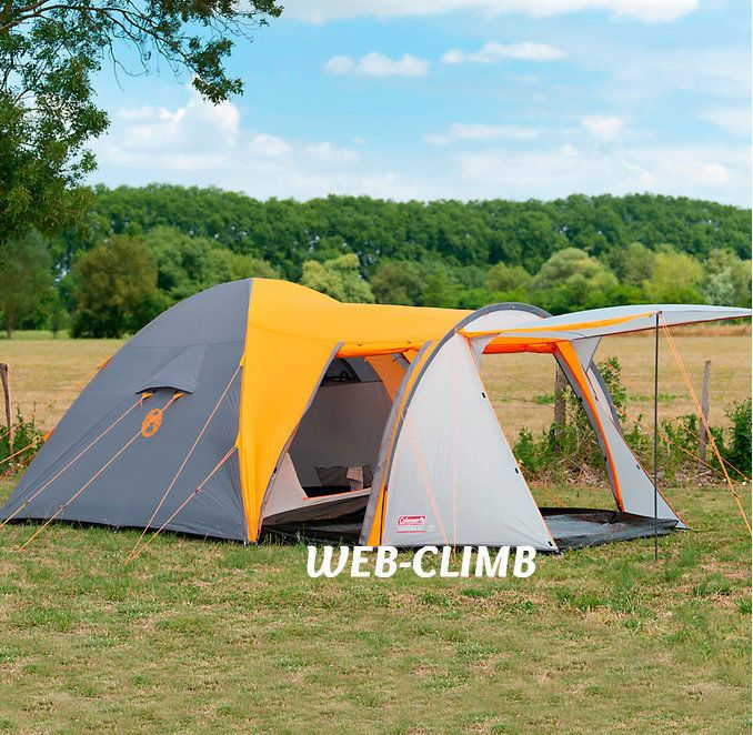 Tent Festivals Backpacking  Hiking Coleman Tents Large Camping Family 5 Man NEW