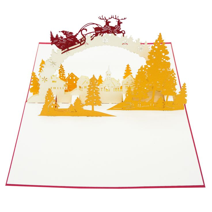 Twas The Night Before Christmas 3d Pop Up Card Merry