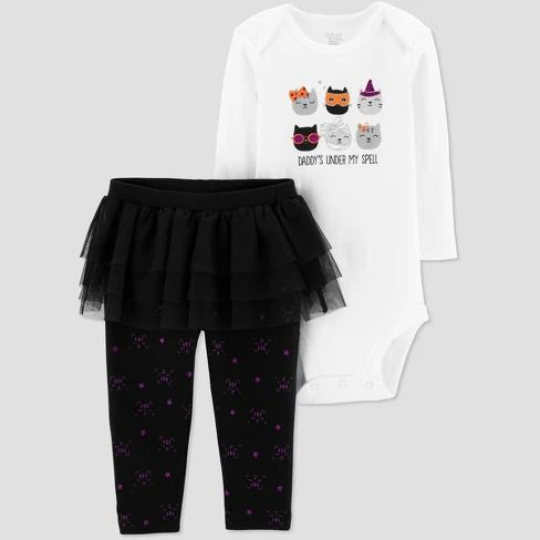 31a1ef0b9f58d Baby Girls' 2pc Halloween Cats Set - Just One You® made by carter's White :  Target | Halloween baby clothes | Fal… | Best Baby Products | Group Board  ...