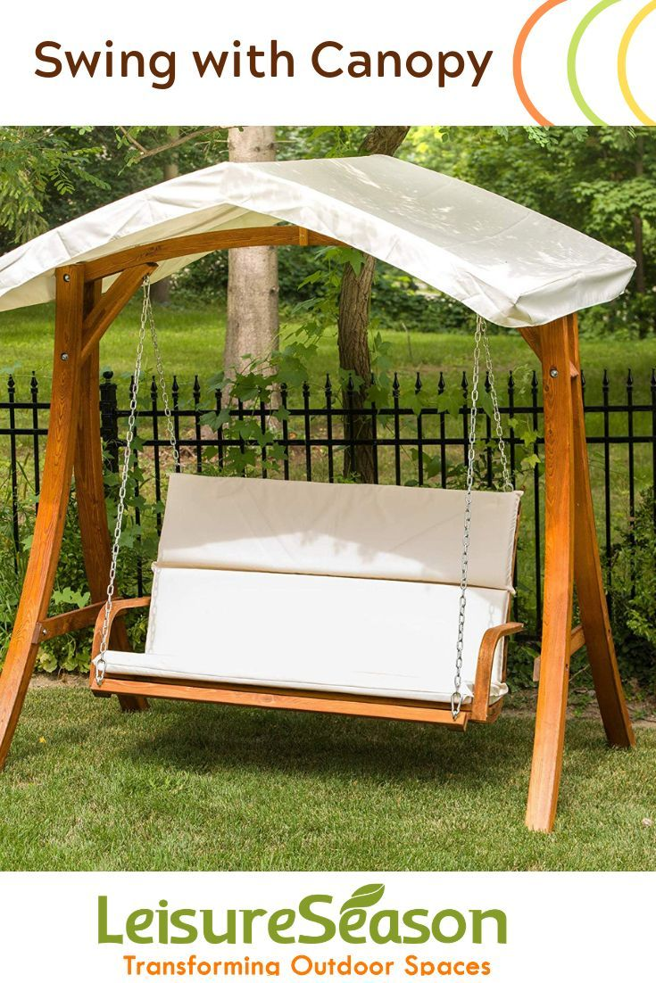 Enjoy Your Backyard With This Couples 2 Seater Garden Swing Ideal For Your Lawn Or On Your Patio Sum Outdoor Wooden Swing Porch Swing With Canopy Patio Swing