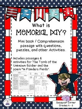 Picnics, parades, and cookouts.  It's Memorial Day!  Do your students know what they are celebrating when they celebrate Memorial Day?  This activity will help your students understand the history of Memorial Day, as well as provide some fun activities to let them celebrate.