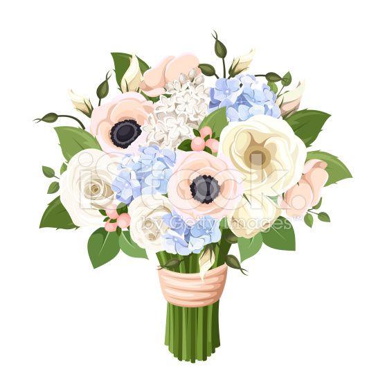 落ち着いた素敵な花束イラストアイデア