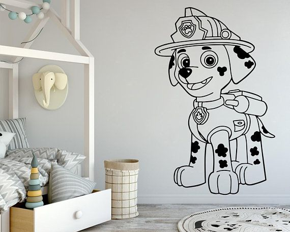 Vinyl WALL STICKER For PAW PATROL Everest decor ART KIDS DECAL Window Custom