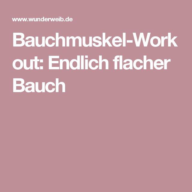Bauchmuskel-Workout: Endlich flacher Bauch